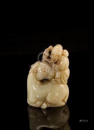 HeTian Jade Statue Decoration