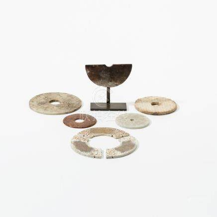 A collection of Chinese jade bi-discs