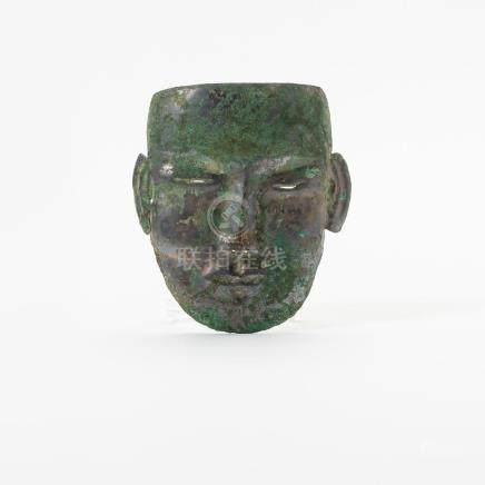 A Chinese silver dead-mask