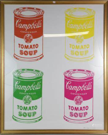 Andy Warhol Water Signed Campbell's Soup