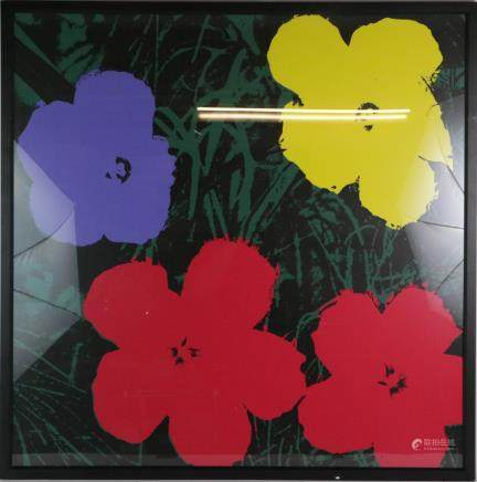 Andy Warhol Signed Silkscreen Print of Flower