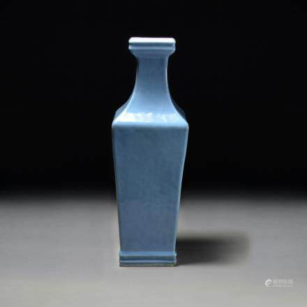 A Blue Glazed Porcelain