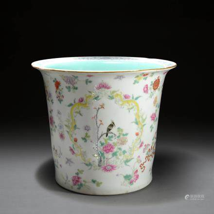 A Famille Rose Planter