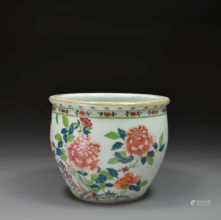 A Famille Rose Jardiniere or Planter