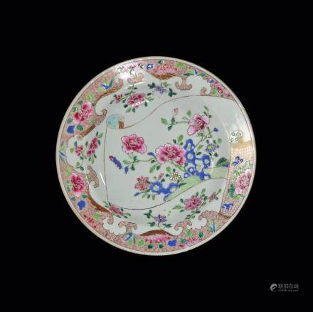 A Famille Rose Soup Plate