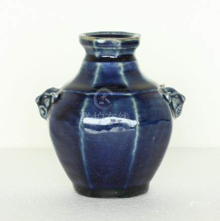 Chinese Blue Glaze Porcelain Small Jar Ming Dynasty