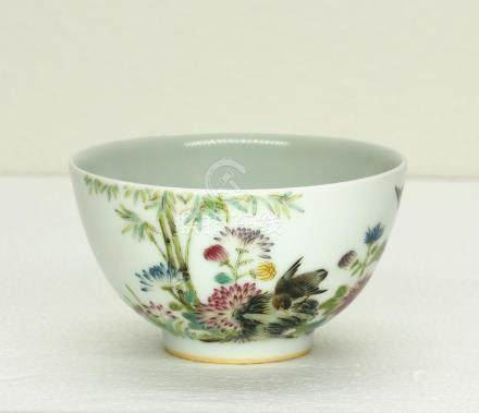 Chinese famille rose porcelain bowl of Qing Dynasty