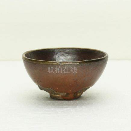 Chinese Persimmon-Red Glaze Porcelain Bowl Southern