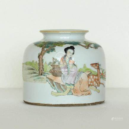 Chinese Famille-Rose Porcelain Jar Republic Period