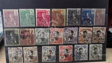 china 1894 stamps法国在华