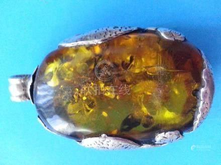 Green Amber Pendant