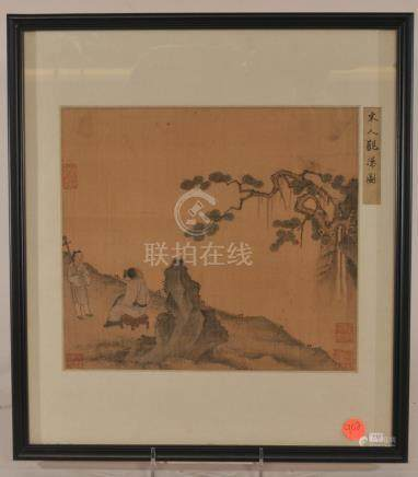 19th century or earlier. Chinese Album painting album