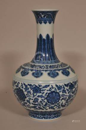 Porcelain vase. China. Ch'ien Lung mark but probably