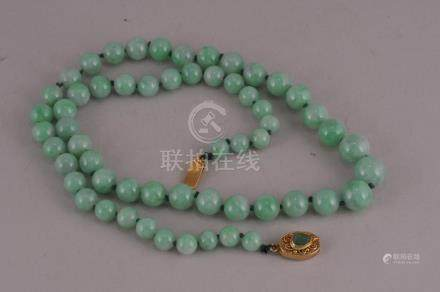 Chinese natural color apple green Jadeite graduated