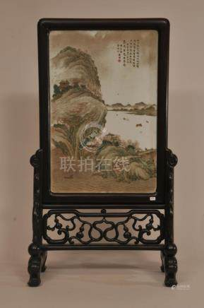 Early Republic period Chinese porcelain plaque on
