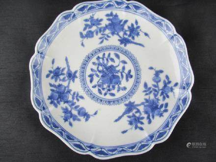 Chinese Blue and White Porcelain Flower Dish