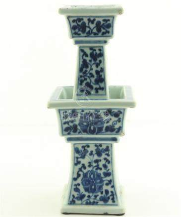 Chinese Blue and White Porcelain Oil Lamp