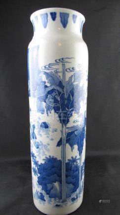 Chinese Blue and White Porcelain Tong Vase