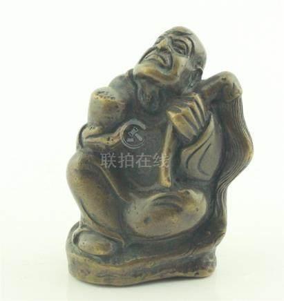 Chinese Bronze Luohan Buddha