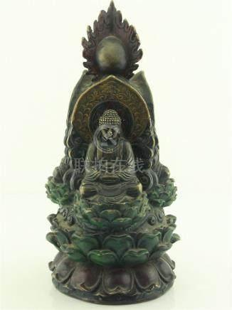 Chinese Bronze Three Buddha