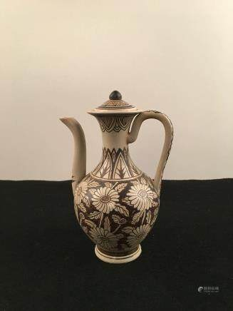 Chinese Ci Zhou Ware Porcelain Water Pot