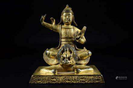 GILT BRONZE CAST GARUDA FIGURE
