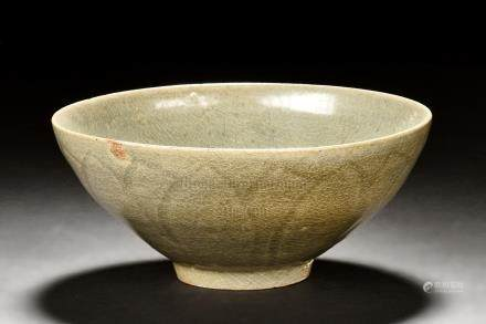 CELADON CARVED BOWL