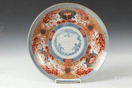 JAPANESE IMARI CHARGER, Meiji Period. - 18 1/2 in. diam.
