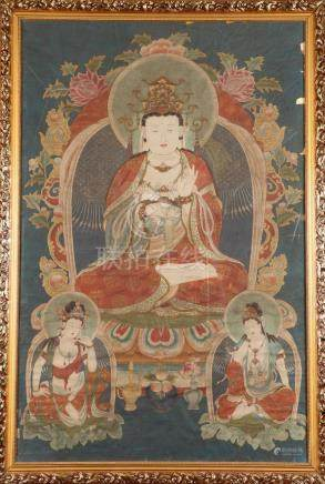"ANONYMOUS (Chinese, 20th Century). ""BUDDHA"", Large painting"