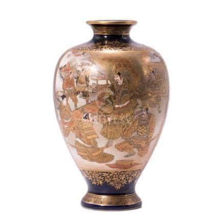 Japanese gilt glaze vase.