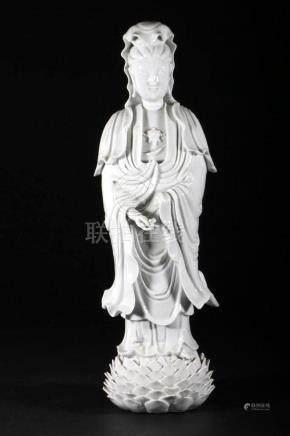 A Chinese blanc de chine Guanyin.