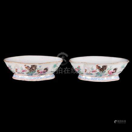 Pair of 19th century Chinese bowls.