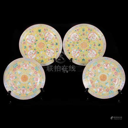 Four 19th century Chinese Plates.