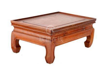 A ROSE WOODEN TEA TABLE.M026.