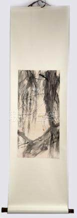 ATTRIBUTED AND SIGNED CHEN PEIQIU (1922- ). A INK AND COLOR