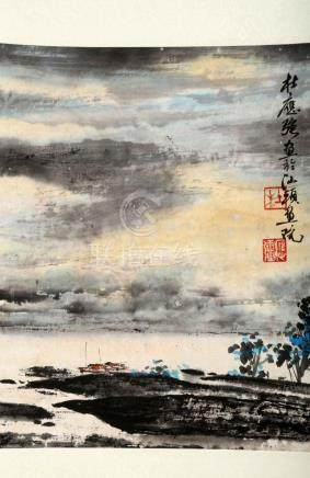 ATTRIBUTED AND SIGNED DU YINGQIANG (1939- ). A INK AND COLOR
