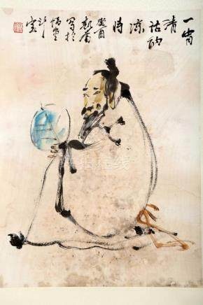 ATTRIBUTED AND SIGNED LIU SIFEN (1944- ). A INK AND COLOR ON