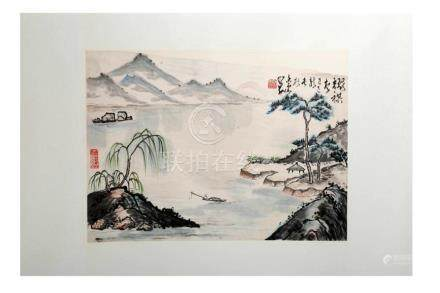 IGNED YAO QI AND ZHAO SHAOANG (1905-1998). A INK AND COLOR O
