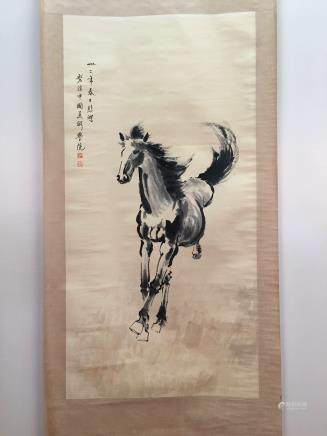 Chinese Hanging Scroll of A Horse