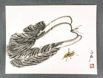 QI BAISHI Chinese 1864-1957 Watercolor Paper