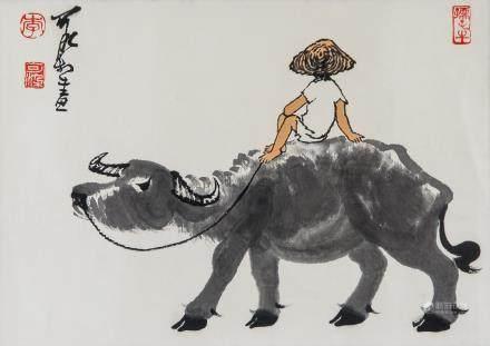 LI KERAN Chinese 1907-1989 Watercolor Paper