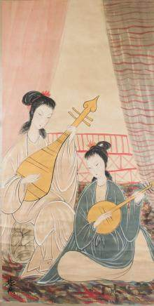 LIN FENGMIAN 1900-1991 Chinese Watercolor