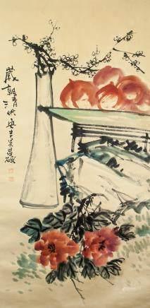 WU CHANGSHUO 1844-1927 Chinese Watercolor