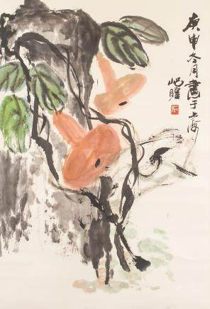 ZHU QIZHAN 1892-1996 Chinese Watercolor