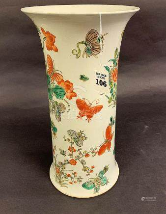 Chinese Porcelain Vase with floral and butterfly decoration