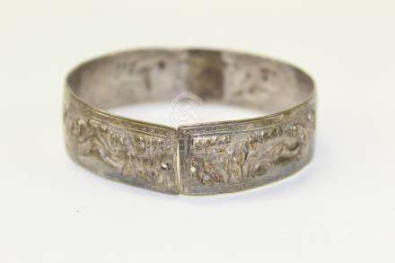 Chinese antique silver bracelet