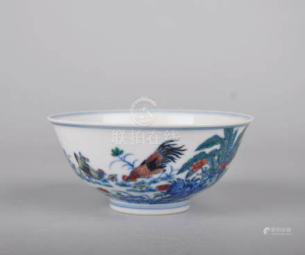 Chinese Doucai porcelain bowl, Yongzheng mark.