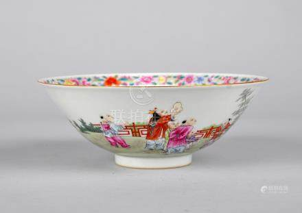 Chinese famille rose porcelain bowl.