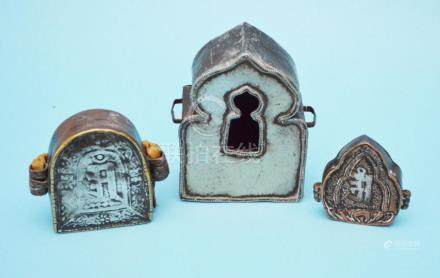 3 Tibetan Gau Prayer Boxes