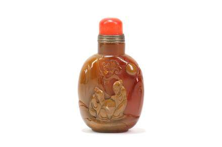 A Chinese Carved Snuff Bottle